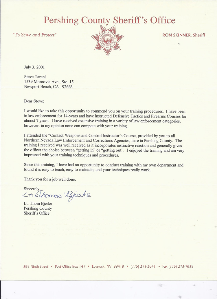 Law Enforcement Letter Of Recommendation Template